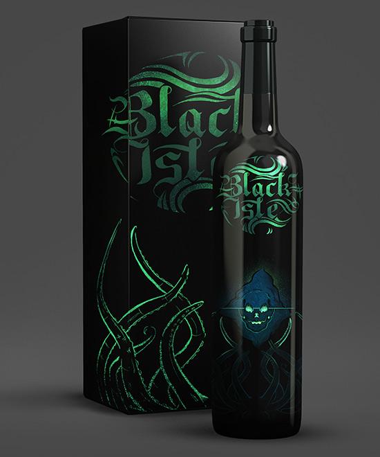 Black Isle rum packaging by George Galbraith
