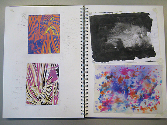 Sketchbook work by Andrew Wilson