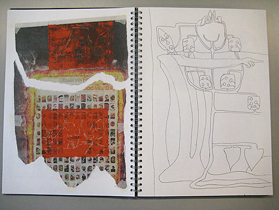 Sketchbook work by Martin Duff
