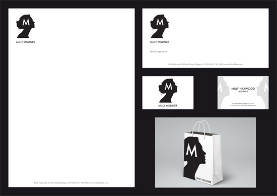 Brand Identity for a Millinery shop, designed by Andrew Smith