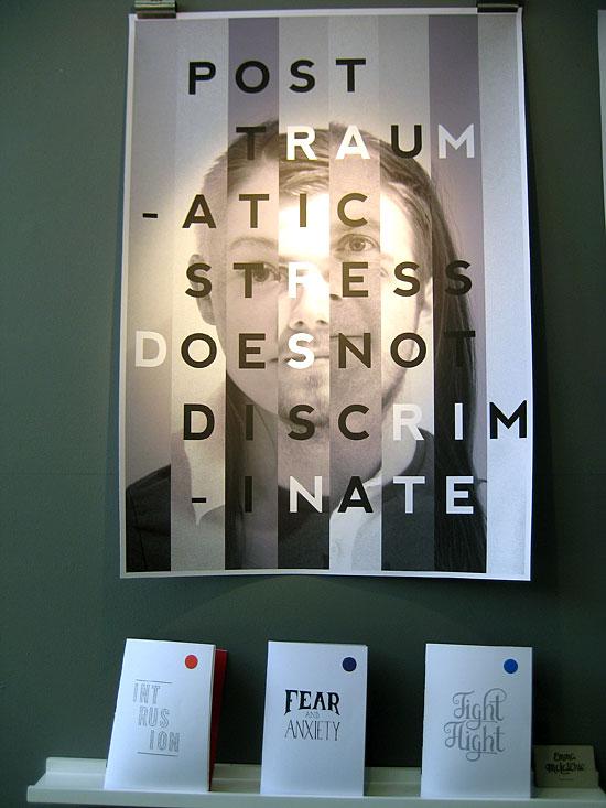 Emma McLatchie's display at Napier University