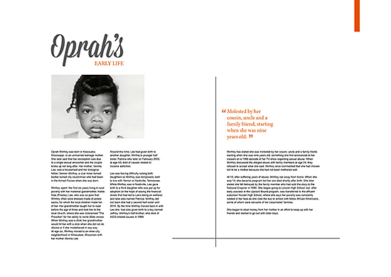 Editorial design by Claire Mills