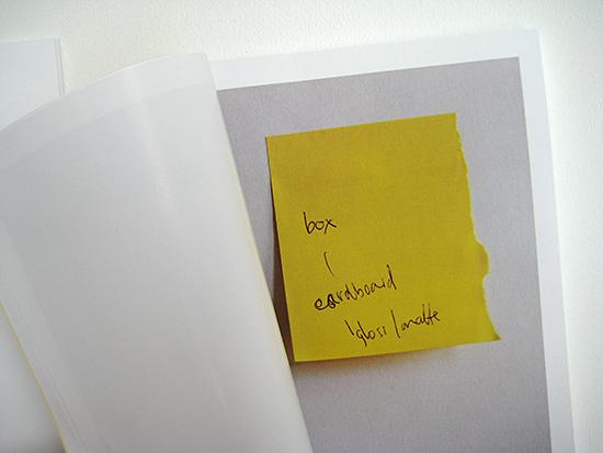 Book of post-it notes by Steven Swinney