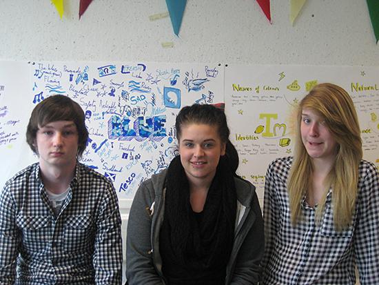 Team Blue: Lewis Blakeman, Torri-Ann Waldeck, Bethany Dick