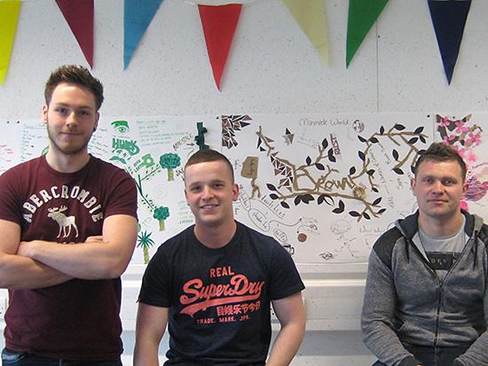 Team Brown: Jan Neuman, Scott Burns, Bryce Miller