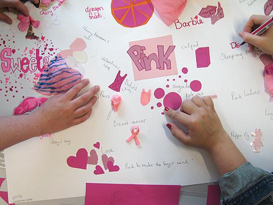 Pink mind map