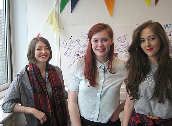 Team Purple: Kayleigh White, Rachel Eadie, Christina Melby
