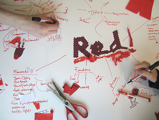 Red mind map