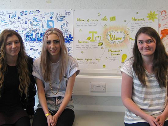 Team Yellow: Becca Torrance, Katie Carr, Emma Hope
