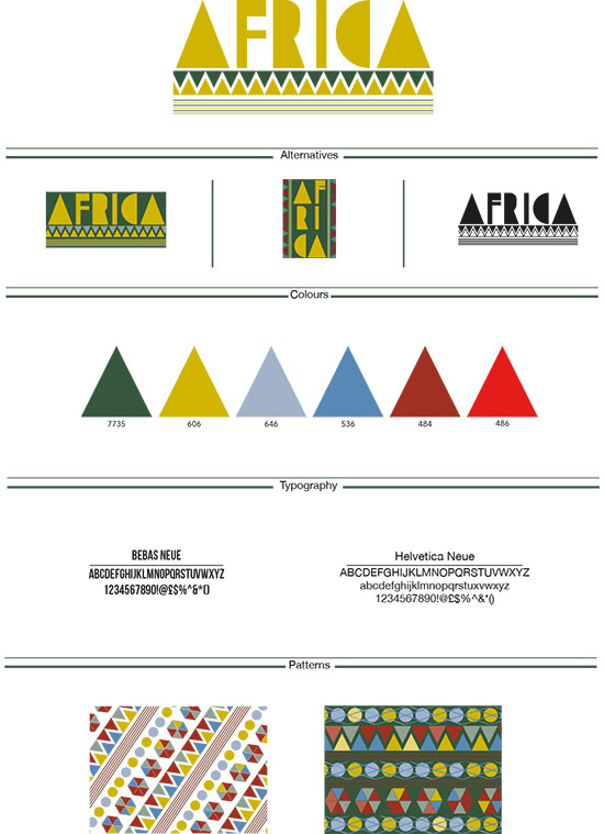 Branding board for African cultural centre by Lisa Brown