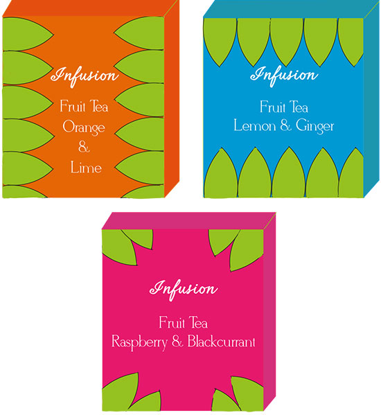 Designs for fruit teas by Jodie Paterson
