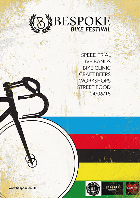 Identity and poster for a bicycle event by John Paul Lawler