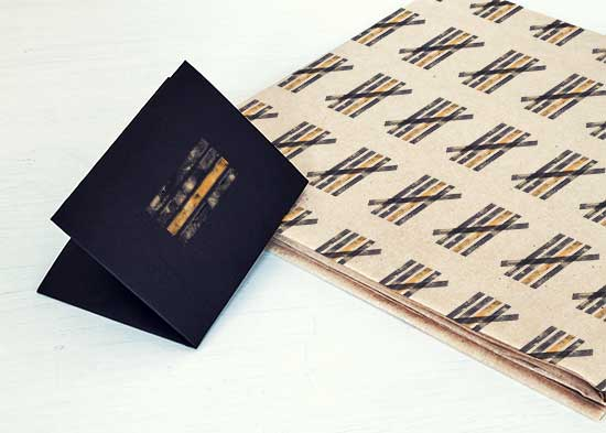 Gift wrap for Alcatraz gift shop designed by Grace Cunningham