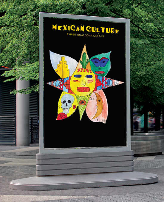Poster for a Mexican Exhibition by Montana Thomas