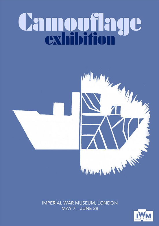 Poster for a Camouflage  Exhibition by Scott Curran