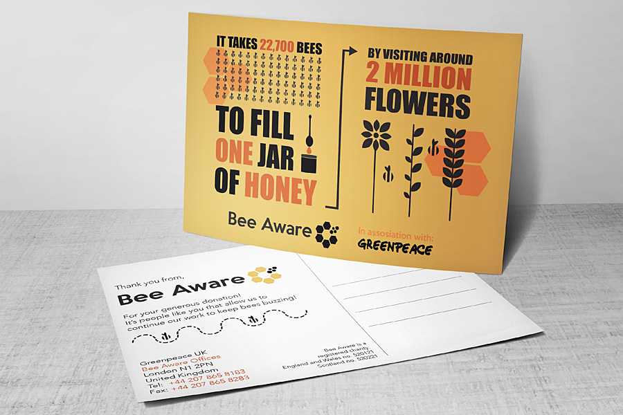 GCC Glasgow Clyde College Graphic Design School Bee Aware Campaign