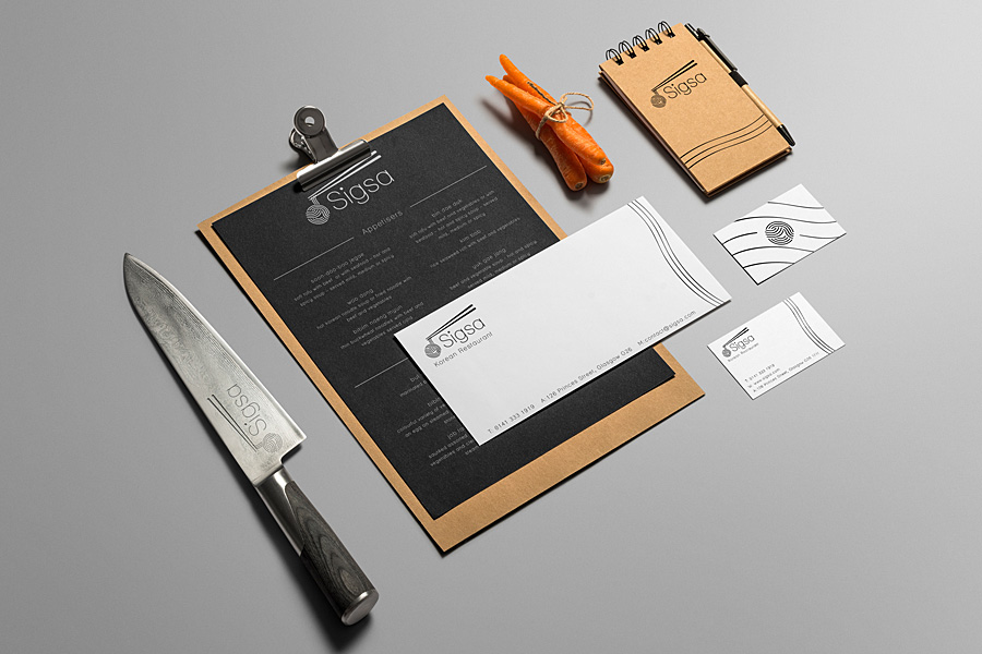 Noodle Bar Branding by Lawrence Ma