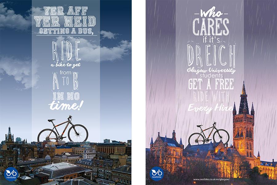 GCC Glasgow Clyde College Graphic Design School Advertising Campaign