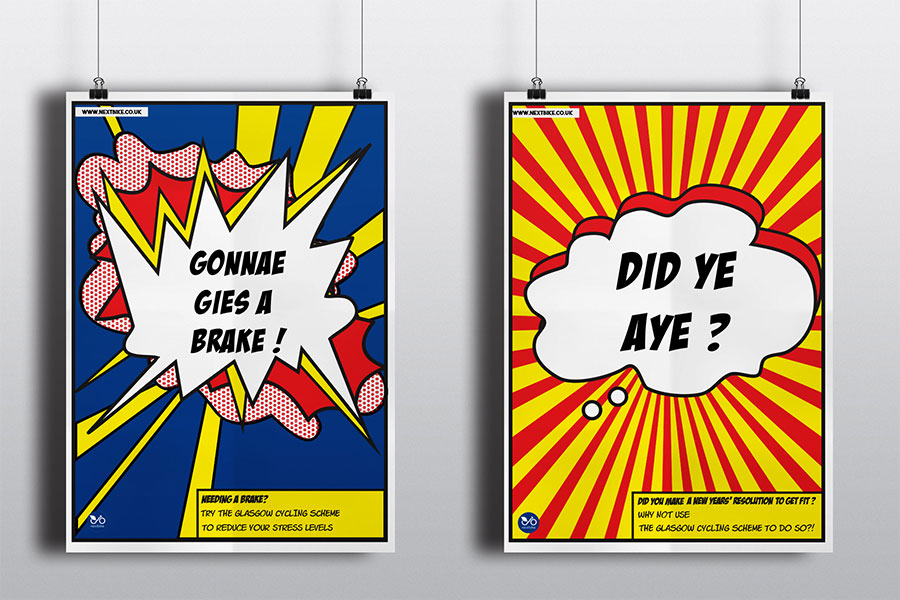 GCC Glasgow Clyde College Graphic Design School Advertising Campaign
