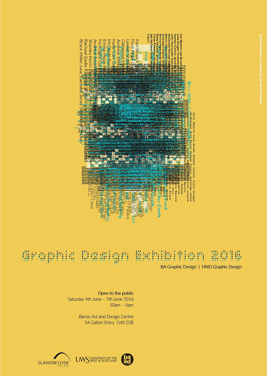 gcc graphic design school exhibition 2016