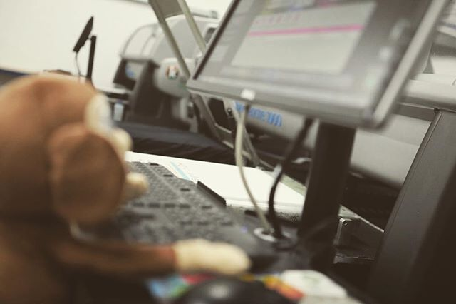 Albert hard at work printing on one of our Kornit Avalanche 1000 printers! #shirtmonkey #kornit #dtg #avk #monkey #garmentprinting