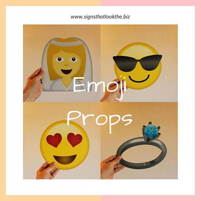 Emoji props, just £3.50 each from www.signsthatlookthe.biz #weddinginspo #weddingdiyprojects #partyprops #partyprop #selfiestick #emoji #smiley #emojiprops #fancydress #photo #photoprops