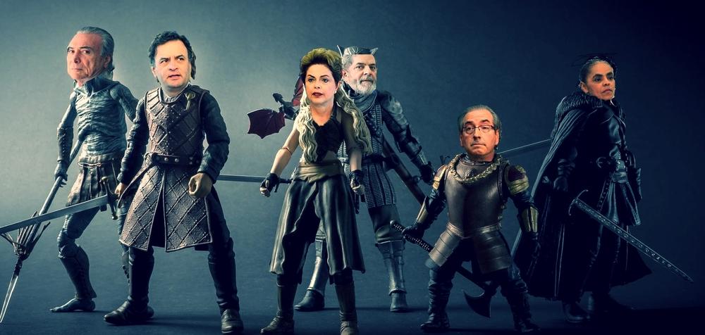 Brazilian politicians as game of thrones