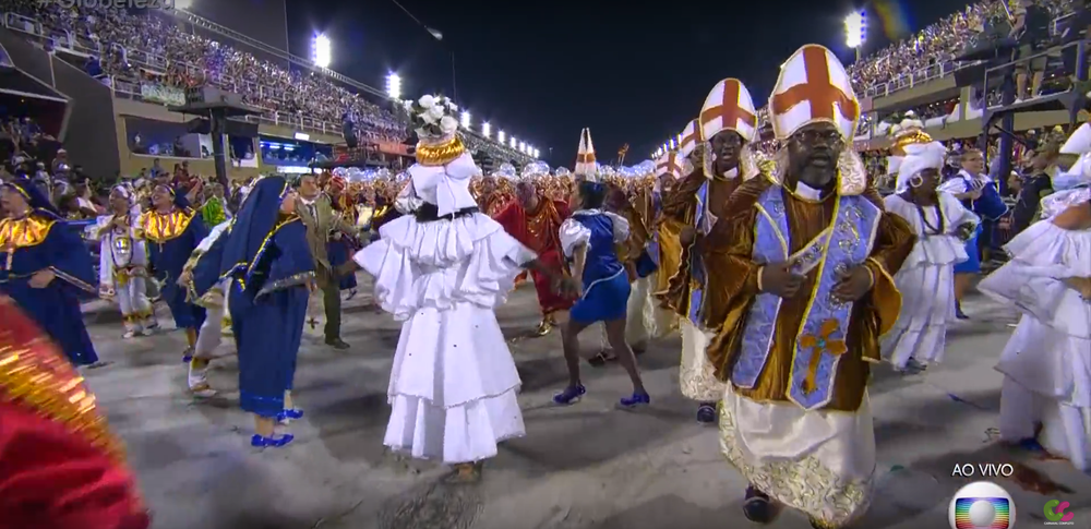 A representation of the many religious traditions present in Brazil.