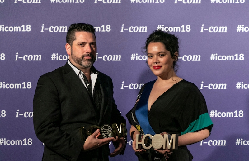 Andrew Douglas and Becky Waddell at the  I-COM Gala Awards Dinner 2018