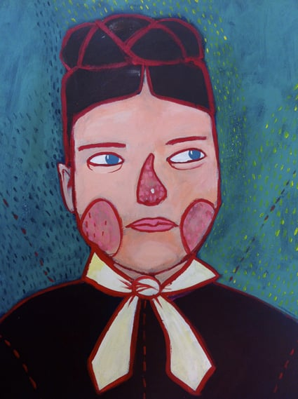 Portrait /Personal Project 2012  Acrylics on mdf (29 cm X 43 cm)