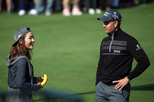 Lydia Ko with Stenson at The Masters