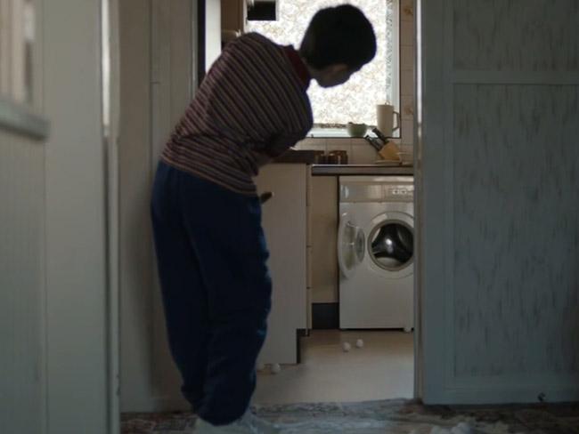 Smashing his neighbour's washing machine