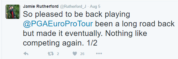 Back in August on what is essentially the third tier of European Golf