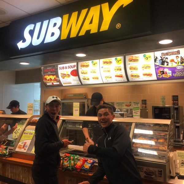 This is after his British Masters win last year. Going to call his management now and do a 'What's In The Bag' feature. Subway obvs.