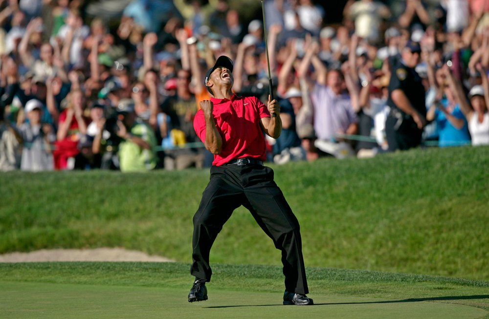 Tiger winning in 2008 on one leg