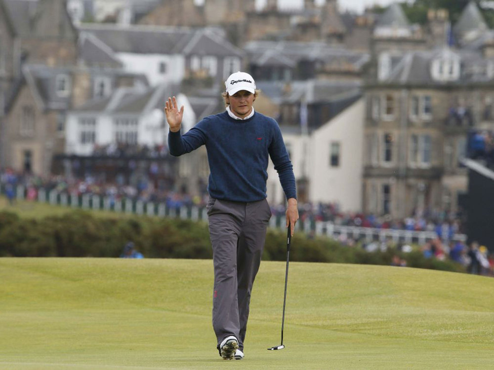 Eddie at The Open at St Andrews