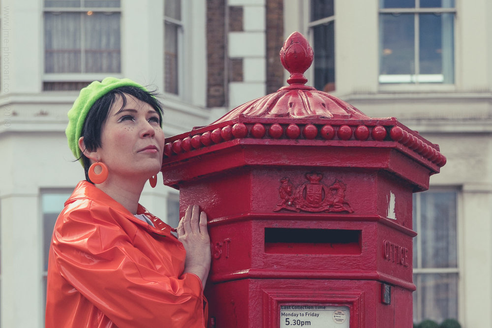 Fleur's attempt at ventriloquism didn't work on the post box.