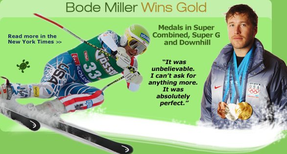 Bode Miller Wins Gold at the 2010 Winter Olympics