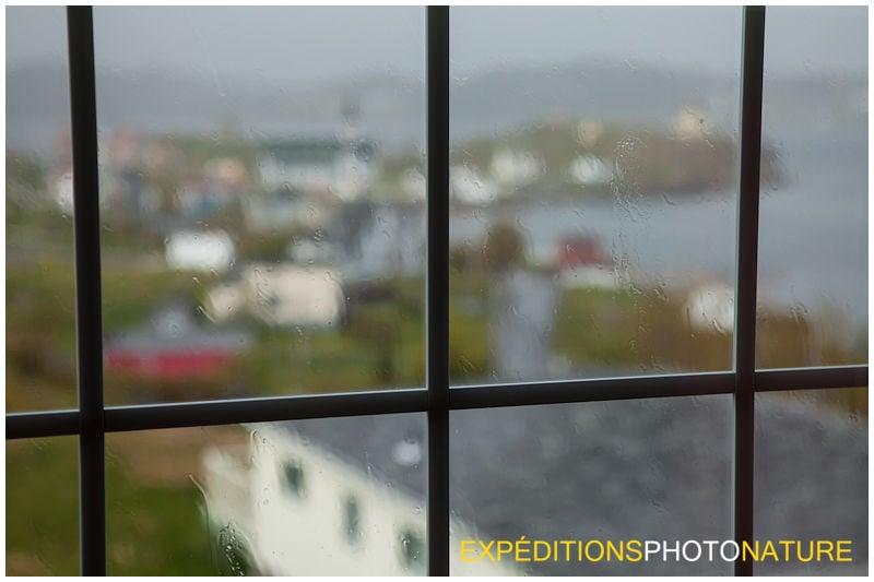 Les trombes d'eau qui frappent les vitres (Photo: Pierre Giard)