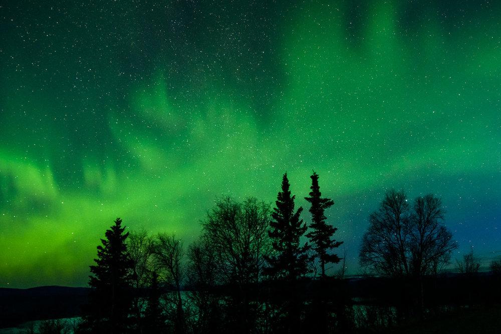 Nos premières aurores boréales