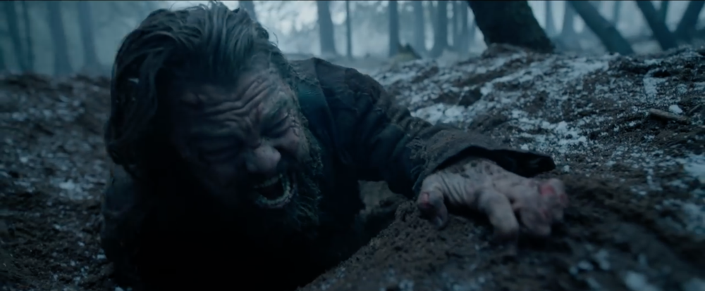 "Apart from the insane amount of awesomeness in the trailer for Innaritu's ""The Revenant"", GIVE LEO THE DAMN OSCAR!! Image from ""The Revenant"" teaser trailer."