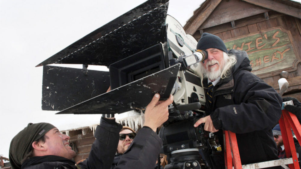 The glorious 70mm camera with the good old lenses from Ben-Hur on principal photography for The Hateful Eight.
