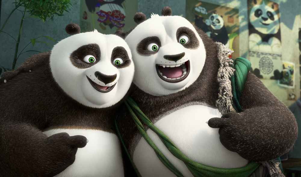Bryan Cranston and Jack Black are father and son in Kung Fu Panda 3. Image from dreamworks.com