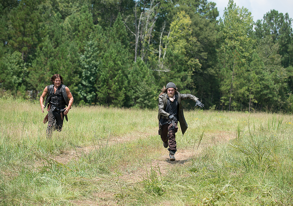 Daryl chasing a third party interferer in the latest episode.