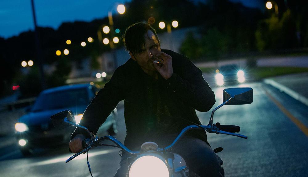 Aaron Paul as Gabriel in Triple 9. Image from triple9movie.com