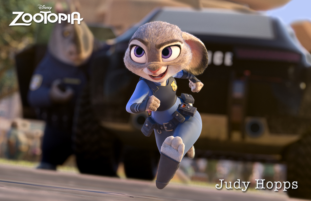 Officer Judy Hopps trying to make the world a better place. Image from Disney.