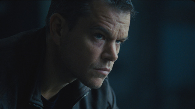 Matt Damon still is in complete control of the title character Jason Bourne. Image from jasonbournemovie.com
