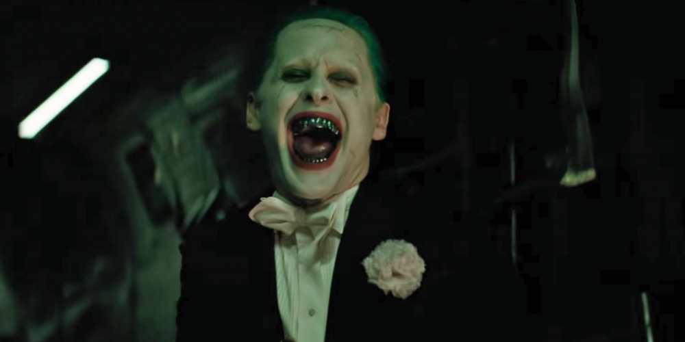 One of the two pure gold Joker moments in the film, and that's about as far as it goes. Image from suicidesquad.com