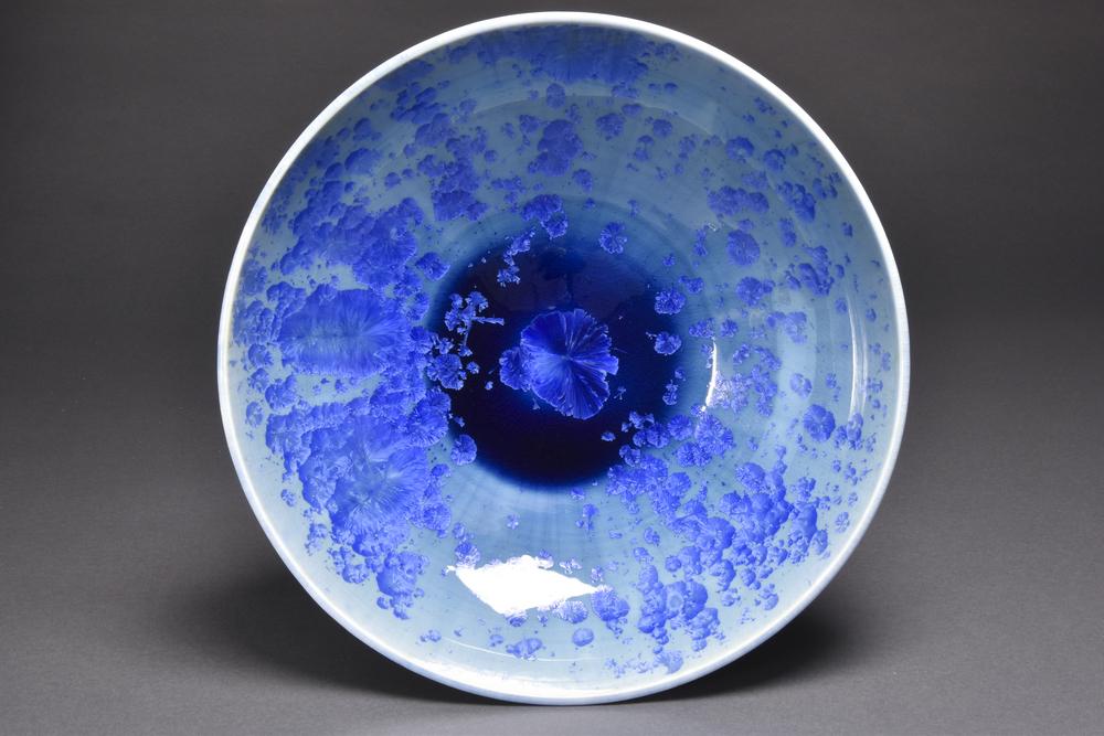 Crystalline Glazed Platter-bowl