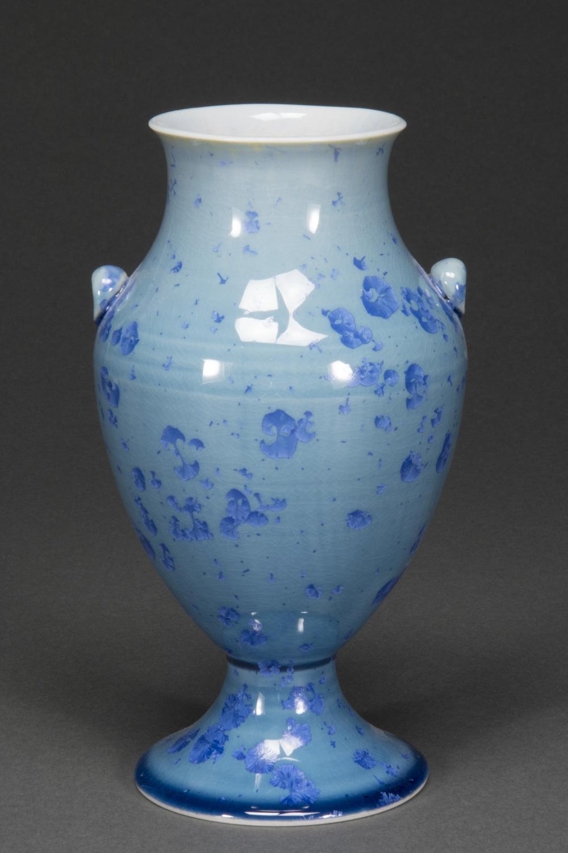 Crystalline Glazed Porcelain Vase